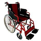Silla de ruedas, Plegable, Ruedas grandes, Aluminio, Freno en manetas y ruedas, Rojo y negro, Torre, Mobiclinic