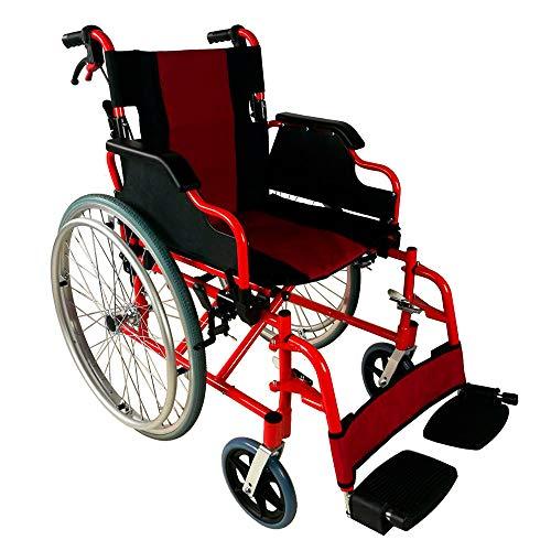 Mobiclinic, Rollstuhl, Faltrollstuhl, Modell Torre, Kniehebelbremsel, Fliehkraftbremse, Aluminium
