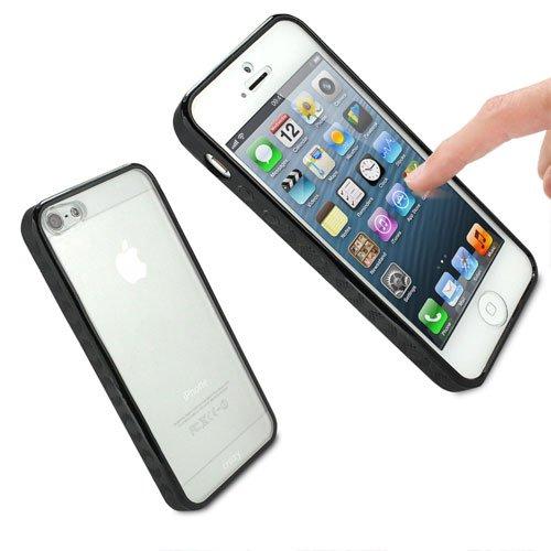 G4GADGET® Iphone 4S/4 Silicon Bumper White/Green 5CBlack