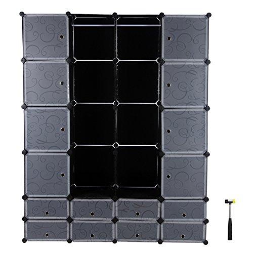 Songmics armadio armadietto guardaroba scaffale cubi mobiletto modulare lpc42h