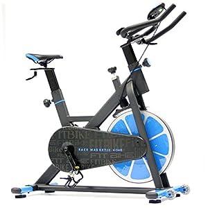 FitBike Indoor Cycle Race Magnetic Home – 20 kg Schwungrad – Poly V-Riemen und Magnetisches Widerstandssystem – Mit Trainingscomputer – Spinning Fahrrad