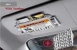 FashLady Car Holder Sun Visor bagagli Stivaggio Riordino Parasole Piastra Carte Auto Slot Accessori Su Car Styling Parcheggio Scheda: grigio con il numero