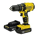 18v CORDLESS LITHIUM STANLEY FATMAX DRILL DRIVER COMPETE KIT 2 X 1.3 AH LITHIUM BATTERYS PLUS FAST CHARGER. 3 YEARS GUARANTEE by Stanley