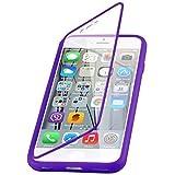 iPhone 6 & 6s 4.7 Zoll, JAMMYLIZARD Rundumschutz Hülle aus mattem Silikon mit integriertem Displayschutz, LILA