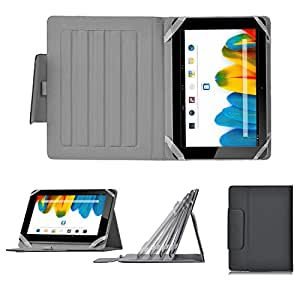 IVSO® Universal Tasche Für 10 Zoll Android Tablete PC Acer Iconia A3-A10, Asus MeMO Pad Smart ME301T, Asus MeMo Pad Full HD10 ME302, Asus EeePad Transformer Pad TF300T / TF700T, Asus VivoTab Smart ME400C, Samsung Galaxy Note 10.1 2014, Toshiba AT10LE-A, Toshiba AT300, Toshiba AT300SE, Toshiba Regza AT500, I-ONIK TP10.1, Odys Noon, Odys Iron, Intenso Tab 1004, Medion E10311 Lifetab, Medion Lifetab S9714, Acer Iconia W510, Odys Cosmo, Medion LifeTab, Archos 101XS, Sony Xperia tablet Z / SGPT121 Tablet S, Ainol Novo 10 Hero - Archos 101 - Arnova 9 G2 Universal Stand Schutzhülle mit Multi-Angle-Ständer (Für 10 Zoll Android Tablet PC, SchwarzII)