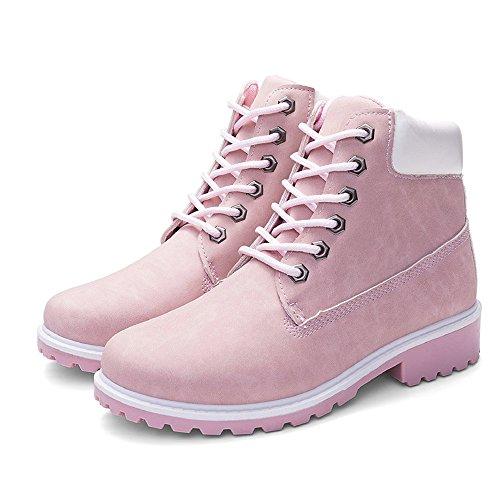 Femmes Chaussures,Sonnena Bottes Femme Automne Hiver/Bottines Courtes Cuir/Bottines Plates Fourrées/Boots Chaussure Lacer/Classiques Chaude Impermeables Casual Taille 36-41