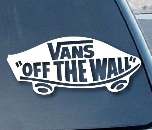 Preisvergleich Produktbild Aufkleber Vans Off the Wall Car Window Vinyl Decal Sticker 177mm Wide (Color: White)