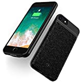 Qi Akku Hülle Batterie Case WELUV Für iPhone 8plus/7plu/6splus/6plus Qi kabelloses ladehuelle 4000mAh Ultra Dünn Handy Schutzhülle Handytasche Induktion Ladegerät Cover 5.5
