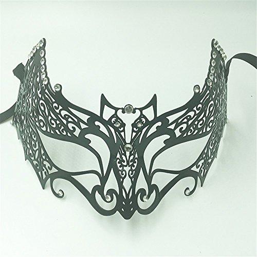 lustige Fledermaus Maske Prom Party Metall Schmiedeeisen Maske Bar Diamant Zeigen Requisiten ()