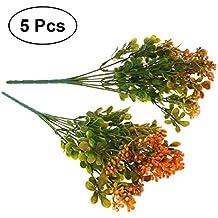 STOBOK 5pcs Bayas realistas Artificiales Falsas Mini Bayas simulación Decorativas Plantas de Fruta ...