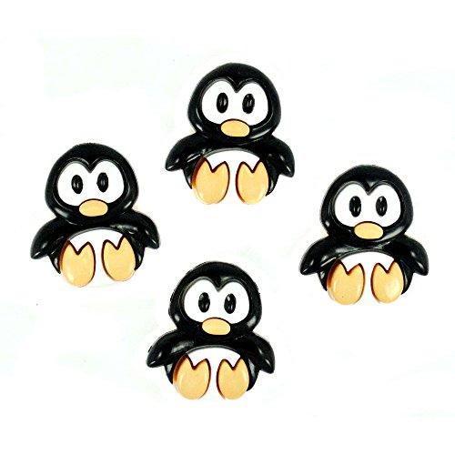 Verspielte Pinguine-Neuheit Craft Tasten & Verzierungen von Kleid IT UP - Aus Verzierungen