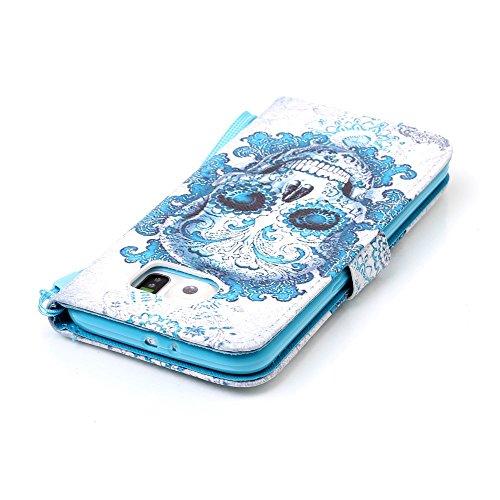 Sunroyal Etui Lederhülle für Samsung Galaxy S6 Diamant Bling 3D Rhinestone Book Type Schutzhülle Magnetverschluss PU Leder Hülle Flip Tasche Wallet Case Cover HandyHülle Bookstyle Brieftasche mit Stan Pattern 8
