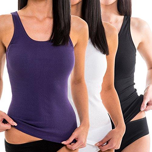 HERMKO 1310 Damen Unterhemd aus reiner Baumwolle in verschiedenen Farben, Farbe:bordeaux, Größe:60/62 (XXXXL)