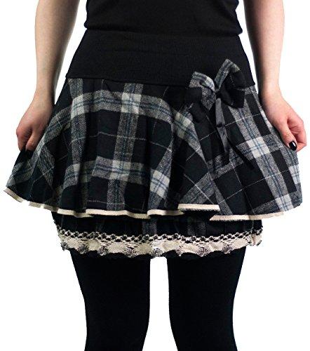 innocent-mini-rock-aya-bow-mini-skirt-black-white-check-schwarz-s