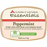Clearly Natural Glycerine Bar Soap Peppermint 4 Oz Pack Of 1