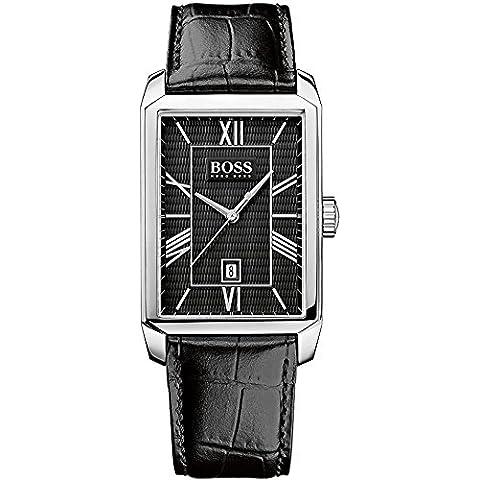 Hugo Boss  1512968 - Reloj de cuarzo para hombre, con correa de cuero, color negro