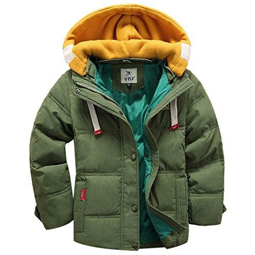 iPretty Winterjacke mit Kapuzen für Kinder Jungen Mädchen verdickte Daunenjacken Mantel Trenchcoat Outerwear
