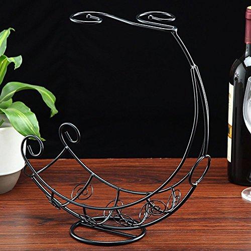 Bronze Cocktail-tisch (Piratenschiff Design Metall Mediterranen Stil Tabletop 2 Weinglas Rack Halter Flasche Server Bronze)