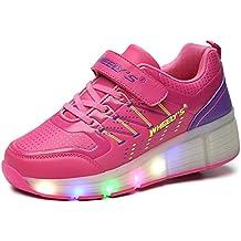FLARUT Niños Zapatos Con Rueda Junior Led Zapatillas de Patìn Roller Sneakers Deportivos con luz …