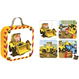 Janod - J02885 - Valisette 4 puzzles Tractopelle Axel