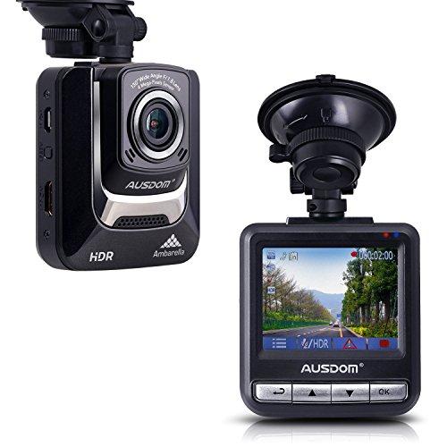 Ausdom AD282 AutoKamera Dash Cam, 1296p Full HD DVR Video Recorder mit Unfall-Erkennung (eine 16 GB TF Karte ist im Lieferumfang enthalten)