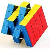 Gem Magic Cube 4x4x4 Casse Tête Puzzle Noir Faces Agrippantes Sans Autocollant Waterproof