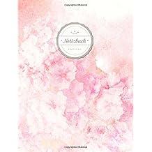 """Kariertes Notizbuch (©Star, A4, 156 Seiten, Softcover)    Mit Register + Doppelrand    Dickes Notizbuch, Fester Einband, Kariert Nr. 26, Matheheft, Skizzenbuch, Zeichenbuch, Tagebuch, """"Rosa Aquarell"""""""