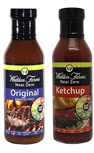 Walden Farms Near Zero Original Barbeque and Ketchup Bundle