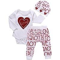 Bekleidung Longra Baby 1SET Strampler Bodysuit Overall Tops + lange Hosen Outfits Babykleidung (0 -24 Monate)
