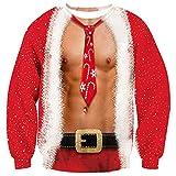 3D Druck Weihnachtspullover Weihnachtsmann