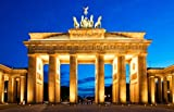 Wandbild Foto-Tapete Brandenburger Tor Architektur KT175 Berlin Wiedervereinigung Deutschland Fototapete Größe: 420x270cm XXL-Tapete Papiertapete Kleistertapete