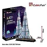 CubicFun l133h–3d Puzzle Die Wolkenkratzer Burj Khalifa LED Dubai Arabische Emirate hoch, 146cm