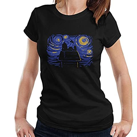 Peanuts Van Goghs A Snoopy Night Sky Women's T-Shirt (Charlie Brown Weihnachts-tv-programm)