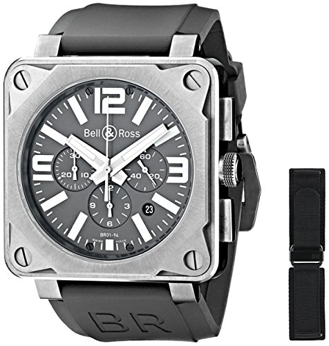 Bell and Ross BR01-94PROTITNM - Reloj de pulsera hombre, color gris