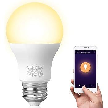 ampoule led e27 aisirer ampoule intelligente wifi. Black Bedroom Furniture Sets. Home Design Ideas