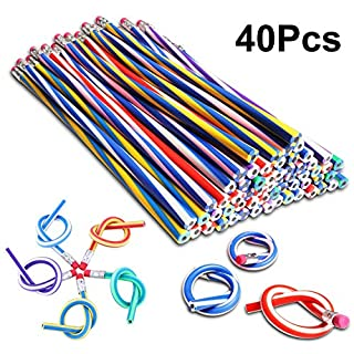 Party Bag Fillers Bendy Flexible Pencils Girls Boys Adult Kids Fidget Toys for Anxiety Birthday Gift School Fun Equipment Party Favors 40Pcs