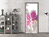 GRAZDesign 791693_92x213 Tür-Bild mit Lavendel | Aufkleber Fürs Wohnzimmer | Türfolie Selbstklebend (92x213cm//Cuttermesser)