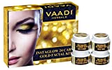 Vaadi Herbals Gold Facial Kit 24 Carat Gold Leaves, Marigold Wheatgerm Oil and Lemon Peel Extract, 70g