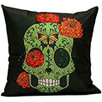 DIPOLA Funda de Almohada Skull Sofá Cintura Throw Cushion Cover Decoración para el Hogar Personalización