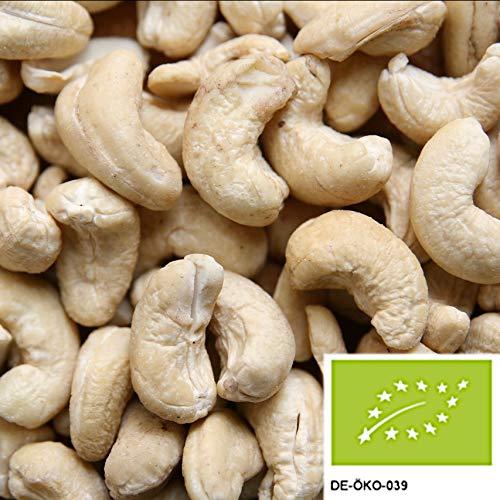 1kg Bio Cashewkerne - Ganze Cashew Nüsse unbehandelt und ohne Zusätze aus kontrolliert...