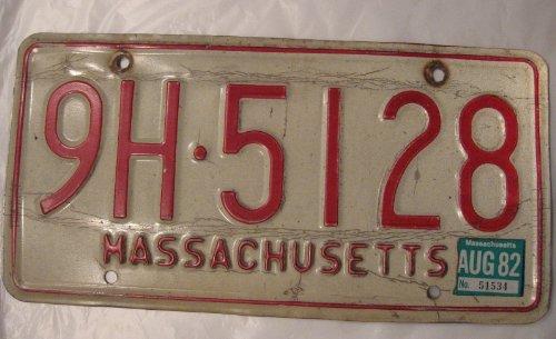USA Nummernschild MASSACHUSETTS ~ US Kennzeichen LICENSE PLATE ~ Blechschild