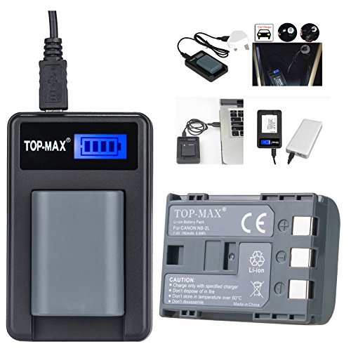 top-max-nb-2l-nb-2lh-bp-2l5-bp-2lh-battery-rapid-usb-charger-for-canon-eos-400d-350d-digital-cameras