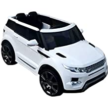 Babycoches - Coche eléctrico para niños Rover Evoque Urban con mando a distancia para control parental, suspension 4 ruedas, 12V, color blanco