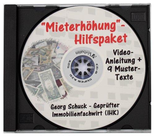 Mieterhöhung-Hilfspaket - 9 Mustertexte + Video-Anleitung auf CD/DVD - Komplettlösung zur Mieterhöhung bis zur ortsüblichen Vergleichsmiete gemäß § 558 BGB inklusive Klage auf Zustimmung zur Mieterhöhung.