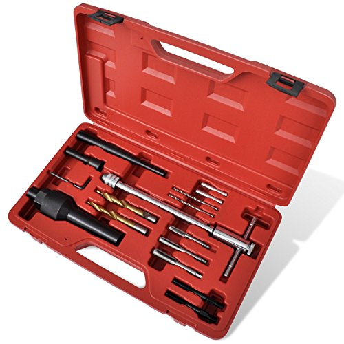 Kit extracteur bougie de préchauffage et réparation de filetage 16 pcspas cher