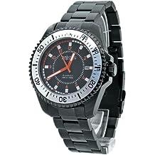 Nautec No Limit Barracuda - Reloj analógico de caballero automático con correa de acero inoxidable negra