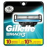 Gillette Mach3 Men's Razor Blade Refills 10 Count, 10.000 Count