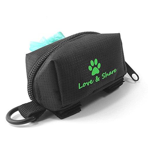 Weehey Pet Poop Tasche Halter Leine Attachment Waste Bag Dispenser Adoptieren für Oxford Tuch für Hunde Katzen Laufen Walking Training Wandern Zubehör -