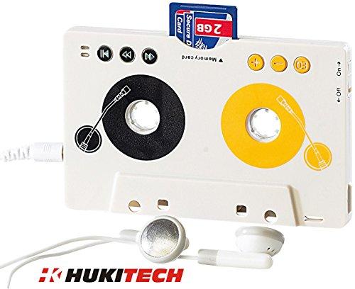 Kabelloser Kassettenadapter MP3-Player für Kassettenautoradio mit Fernbedienung und SD Slot Farbe WEISS Model - Motorrad Aufladbare Wieder