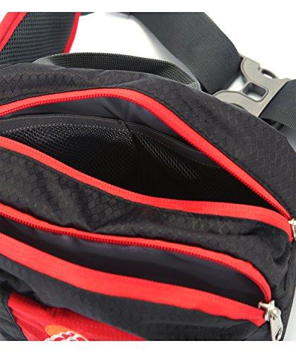 SPRAWL Outdoor Hüfttasche Wasserabweisende Gürteltasche Bauchtasche für Reise und Sport Unisex Schwarz